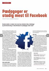 Pædagoger er stadig mest til Facebook